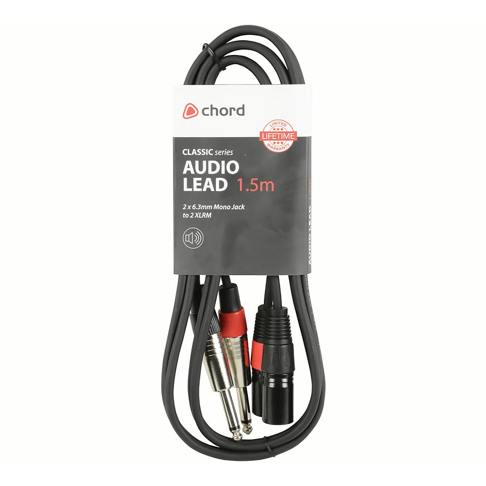 Chord Classic Audio Lead 2 X 6 3mm Mono Jack Plugs