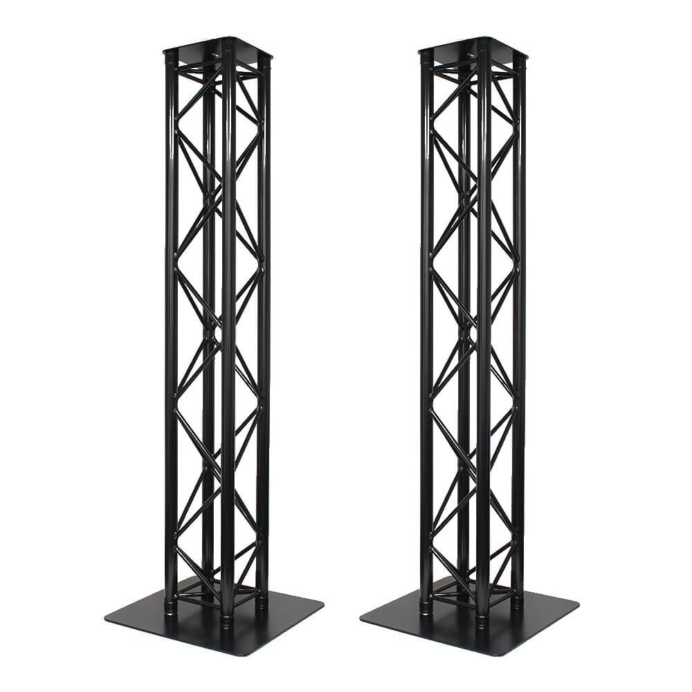 2x global truss 2m stage black metal truss moving head light plinth podium disco dj. Black Bedroom Furniture Sets. Home Design Ideas