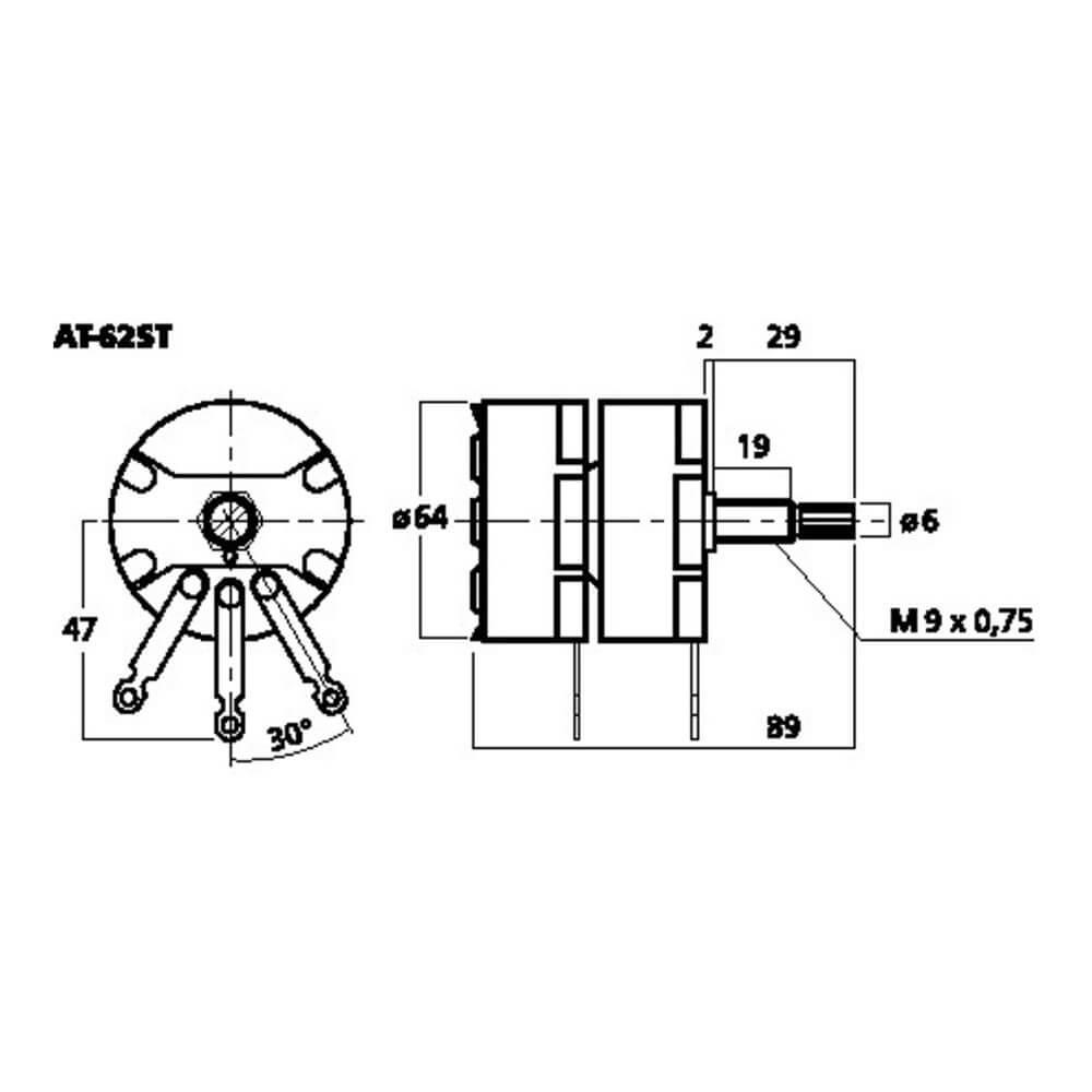 Monacor Stereo L-Pad Attenuator 100W 8 Ohm Wirewound Volume Control AT62-ST