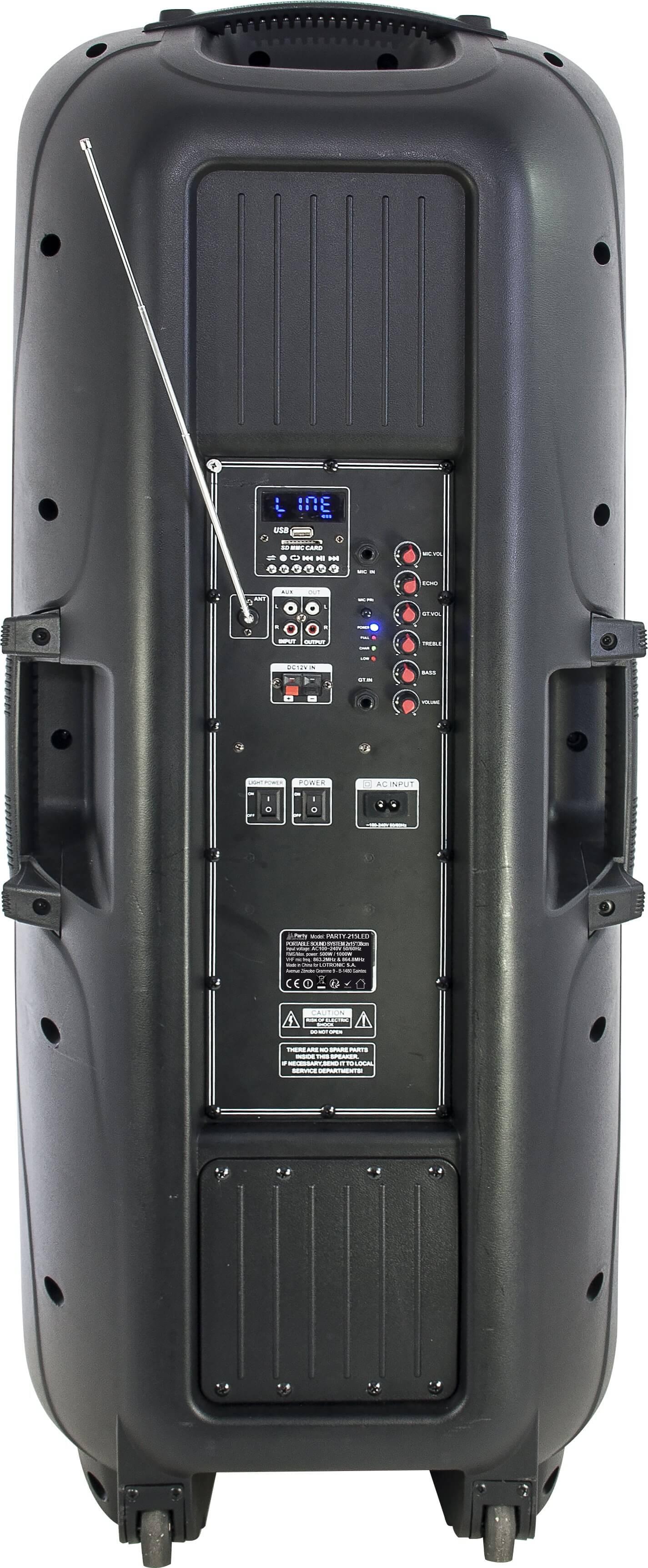 Ibiza Portable Sound System 2 X 15 1000w Usb Bluetooth 2
