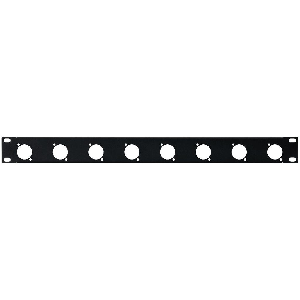 "Monacor 1U 19"" Connector Rack Panel for 8 x XLR Speakon Chassis Panel"