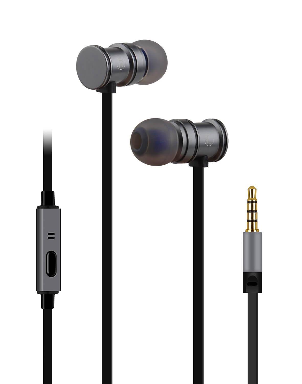 av:link Metallic Magnetic Stereo Earphones - Grey