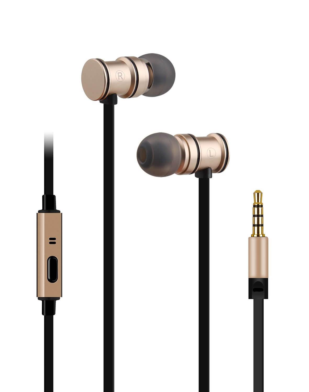 av:link Metallic Magnetic Stereo Earphones - Gold