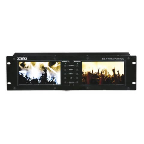 "DMT MKII Dual LCD Screen Monitor Rack 19"" 3U Video Camera Comfort 7"" Display HDMI"