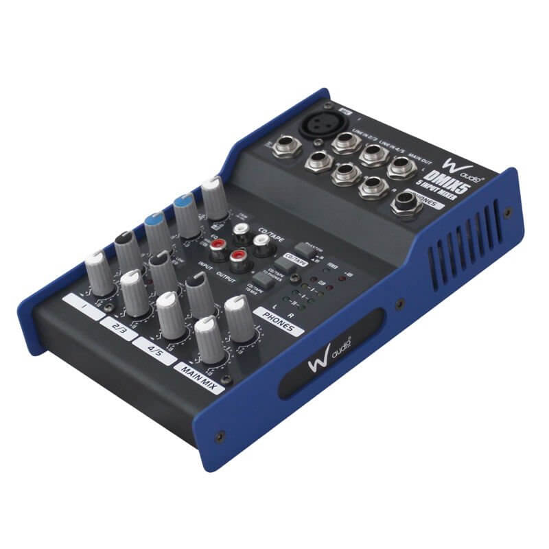 W Audio DMIX5 5 Input Audio Mixer