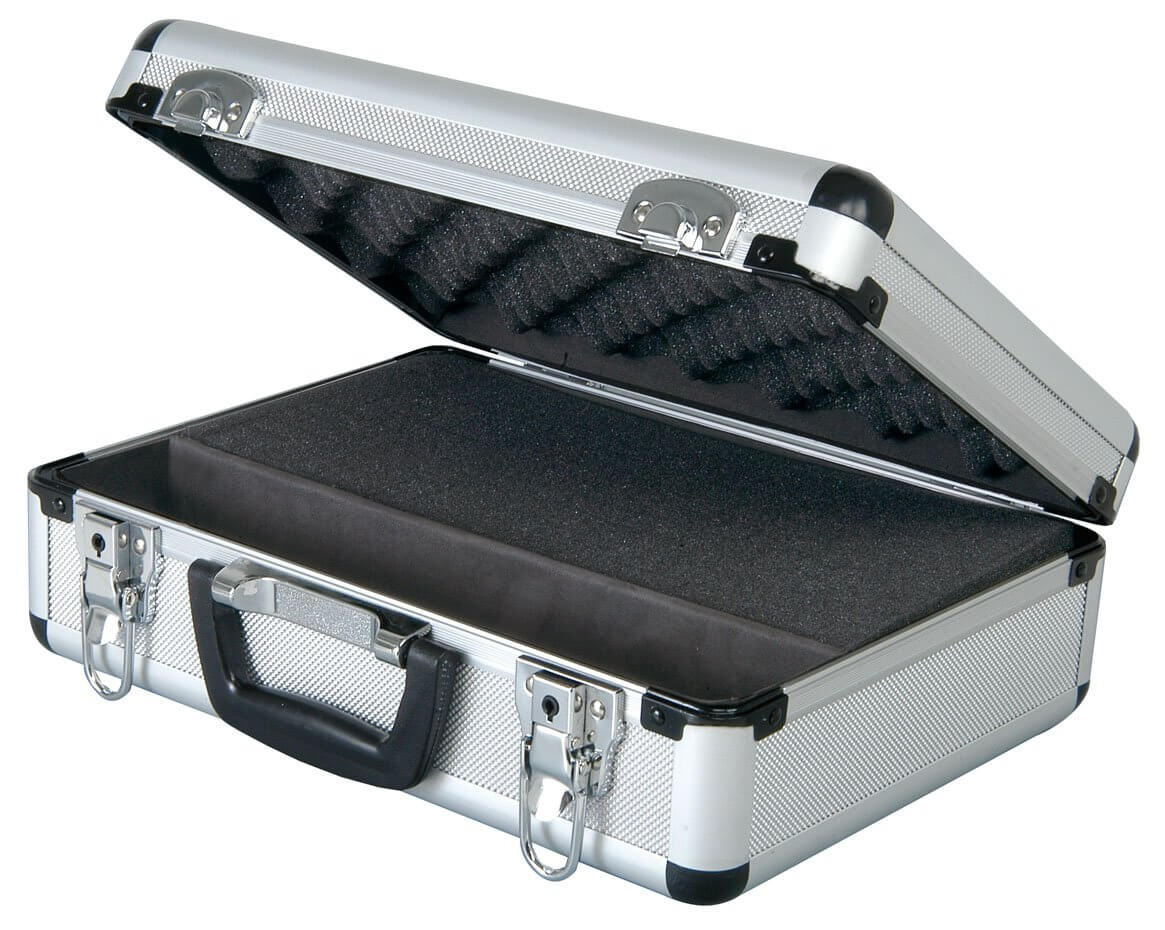 Microphone Flightcase - Custom Foam Insert inc Space for Leads