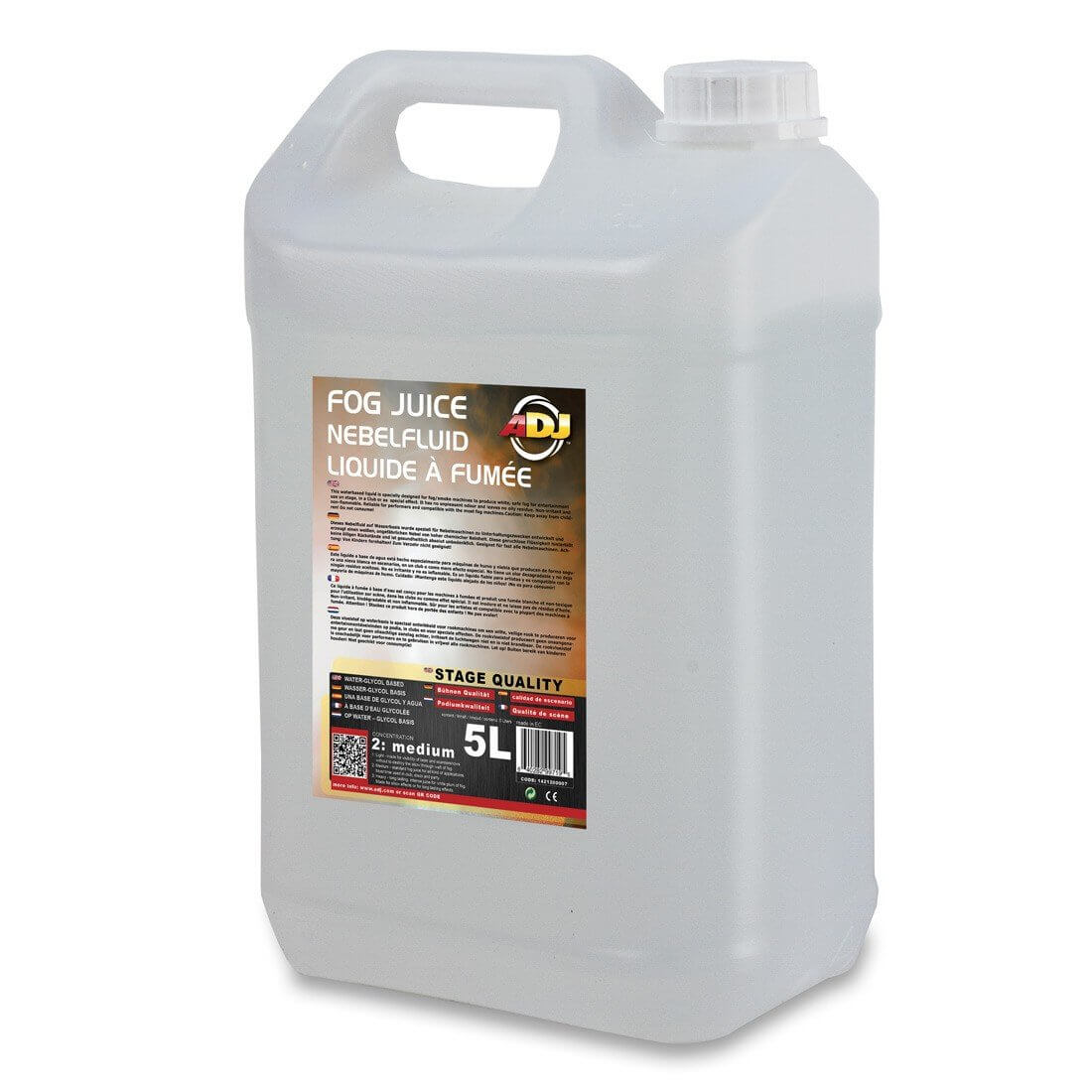 ADJ Fog Juice Medium 5 Litres