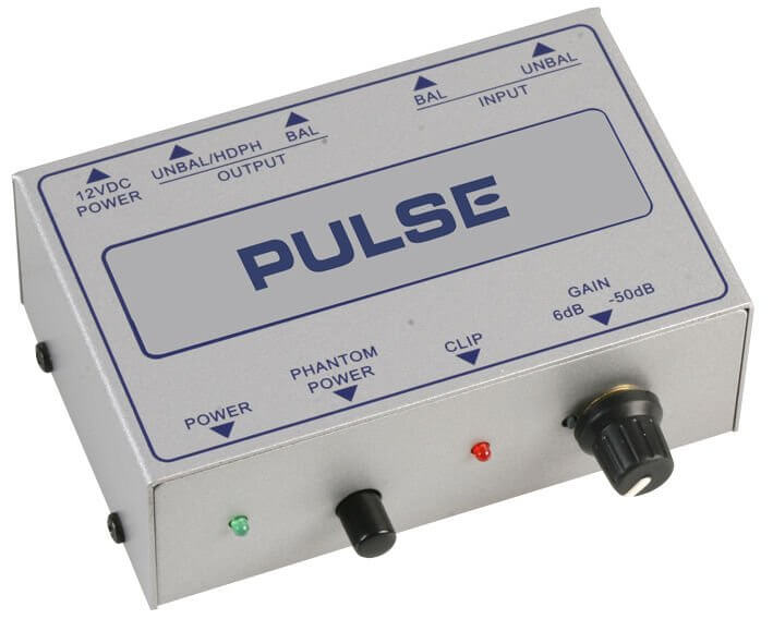 Pulse Microphone Pre Amp Amplifier Phantom Power Gain