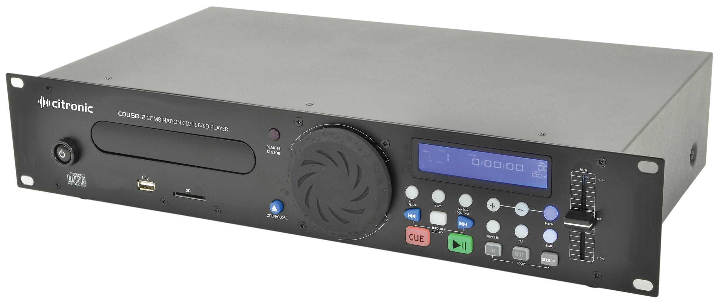 Citronic CDUSB-2 Single CD Player USB SD Rack