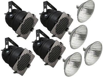 4x 300W BLACK PAR56 INC. LAMPS