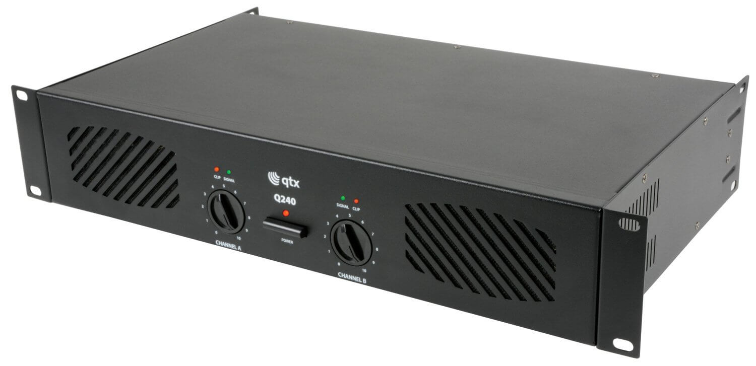 QTX Q1000 Power Amplifier 2 x 500W