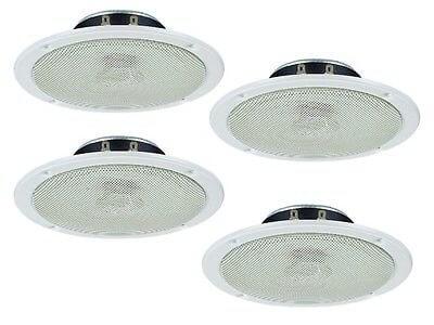 4x Monacor SPE-158/WS Ceiling Speaker (White)