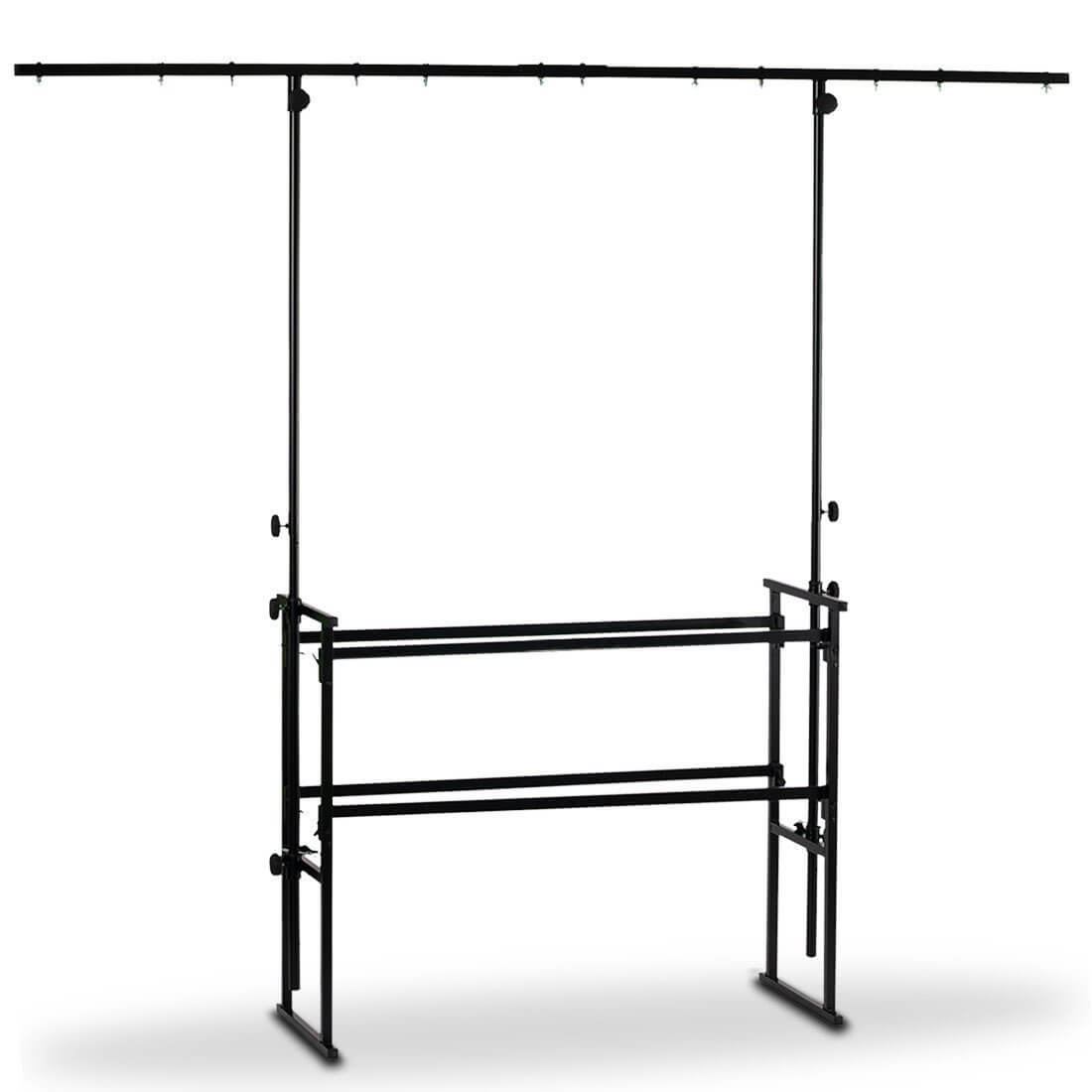 Simply Sound & lighting 4ft DJ Deck Stand Metal Overhead Lighting Bar