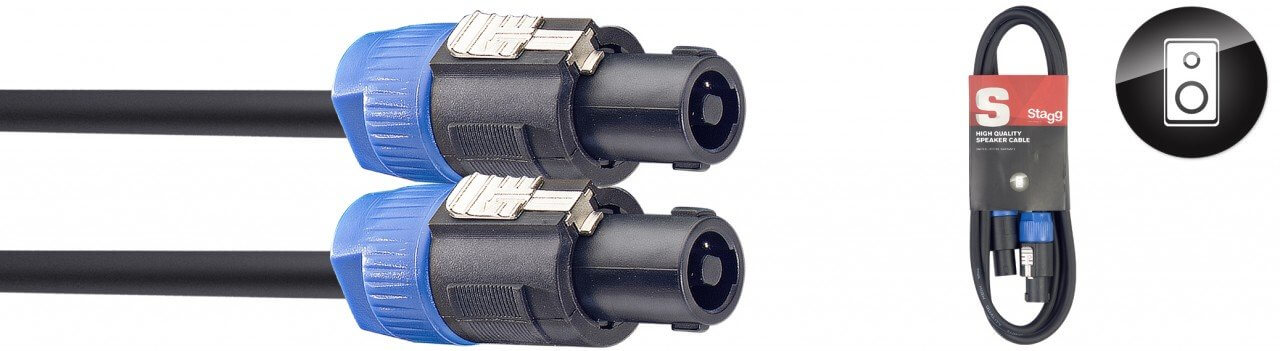 Stagg 10m High Quality Speaker Cable Speakon - Speakon Heavy Duty
