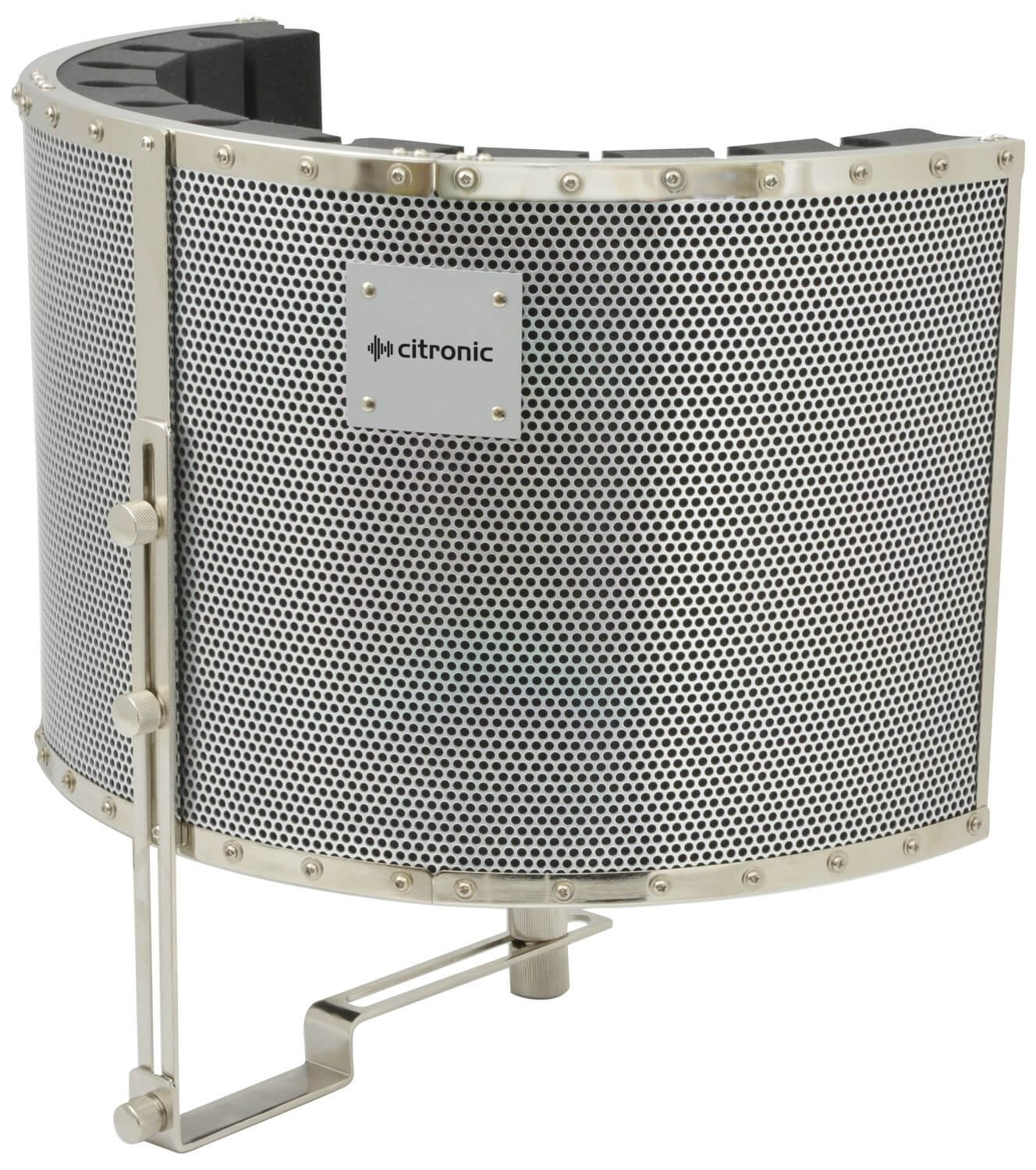 Citronic Studio Microphone Arc Screen Reflection Isolation Filter
