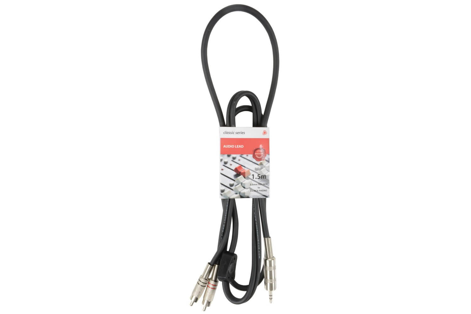 Chord Classic 3.5mm TRS Jack to 2 x RCA Phono Lead 1.5m