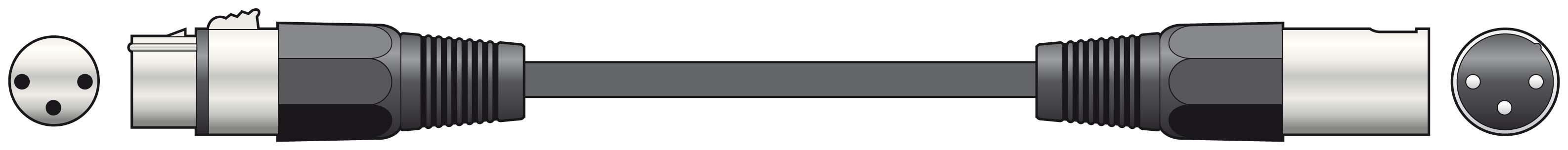 6M DMX Cable 110ohm Lead XLR 3p High Quality Durable
