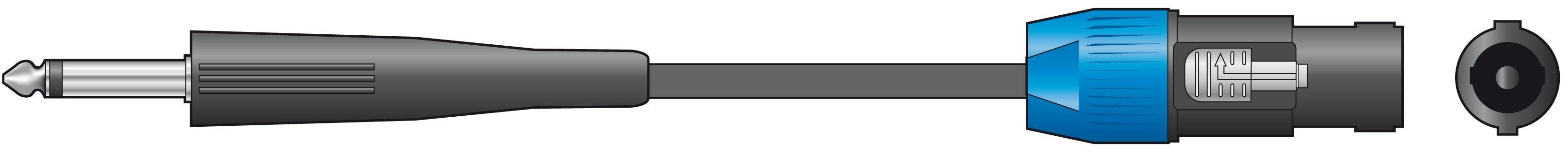 Chord Speaker Lead Speakon - Jack Cable 3M