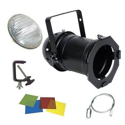 500w PAR64 INC. BLACK LAMP, HOOK, CLAMP & GEL