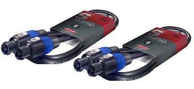 2x Stagg Speakon Cable (2m Black)
