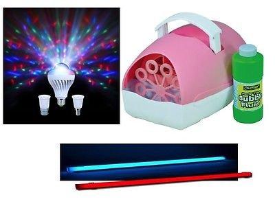 Sensory Lighting Kit (Colour Changing Tube, Bubble Machine and Moonbulb Light)