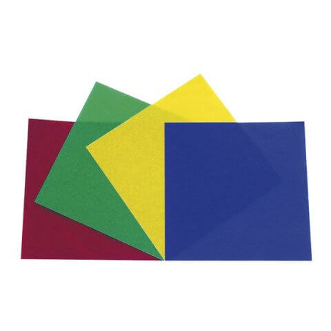 Showtec PAR 64 Colour Film Set Gel Filter Pack Red Green Blue Yellow