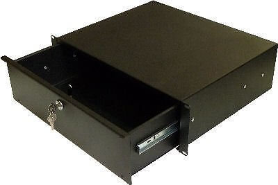 19 Inch Rack Drawer - 3U Lockable Flightcase Studio