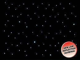 LEDJ STAR05 STARCLOTH 3M x 2M BAND THEATRE DJ STAGE WHITE LEDS ON BLACK CLOTH