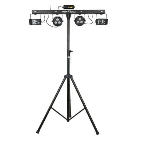 Showtec QFX Lighting Package Gigbar - PAR, Laser, Strobe & Derby