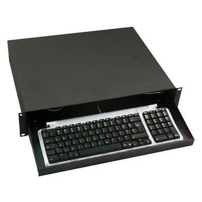 19 Inch Sliding Keyboard Tray - 2U Flightcase Rack