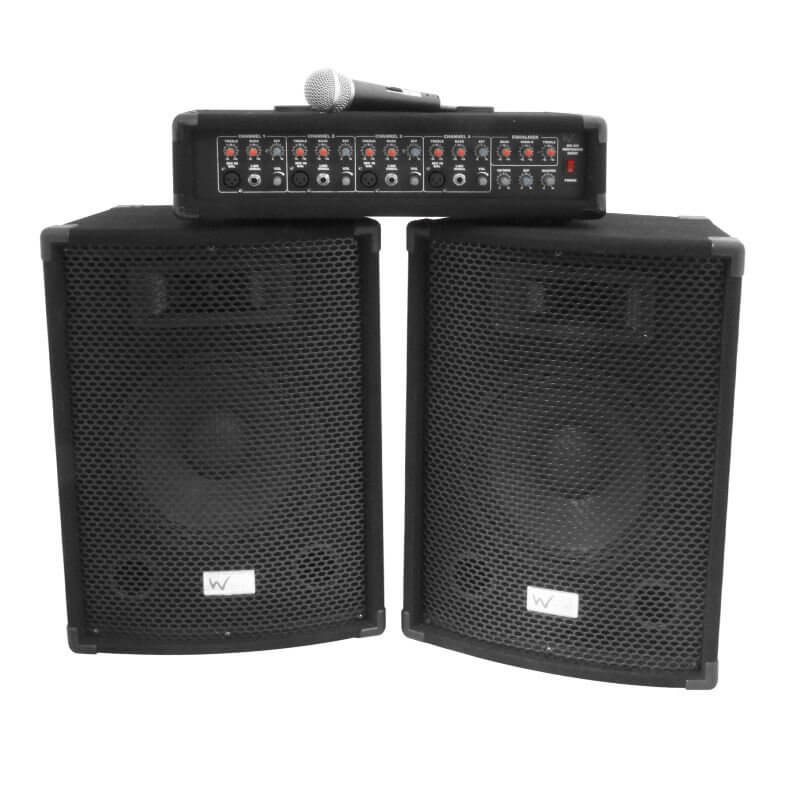 W Audio Gig Rig Performer 200W PA System inc cables & microphone
