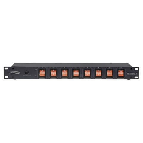 Showtec DJ SWITCH 8 Rack Switch Panel with IEC Outlets