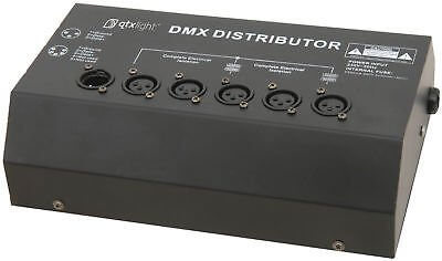 QTX DMX Splitter 4 Way Booster/Distributor LED Lighting