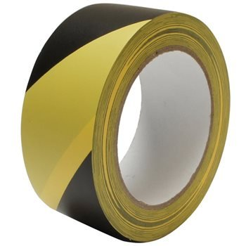 Nu-Pax Hazard Tape 50mm x 33M Yellow and Black 0081