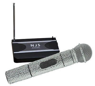 NJS Crystal Radio Microphone Handheld VHF Wireless Mic 174.1mhz