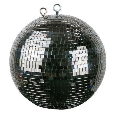 Black Mirror Ball Mirrorball 30cm 300mm Classic Effect Bling