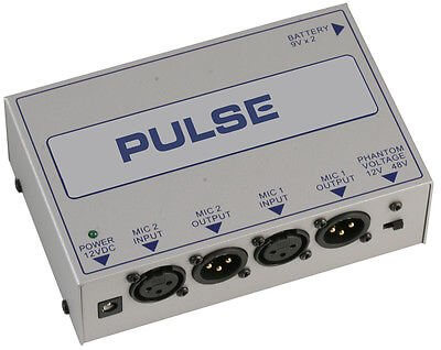 Pulse Dual Phantom Power Supply Band Studio Pa 12V/48V