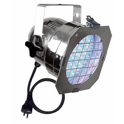 Showtec LED PAR 56 Short Chrome Polished inc Gel Frame