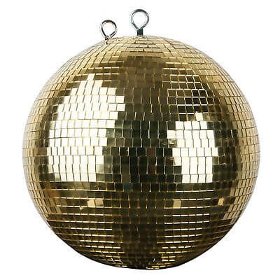 Gold Mirror Ball Mirrorball 30cm 300mm Disco Venue Decor