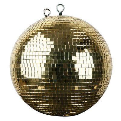 Gold Mirror Ball Mirrorball 30cm 300mm Disco Venue Decor