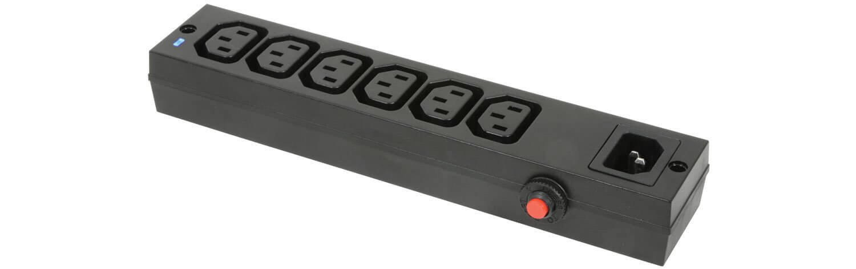 Mercury 6 Gang IEC Power Splitter Distribution Block Mains Power Plug Unit