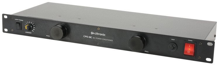 "Citronic CPD-8C 19"" 8 Way IEC Power Conditioner"