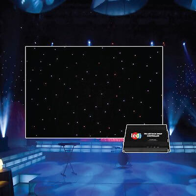 LEDJ Pro Tri LED Starcloth 6m x 3m Event Decor