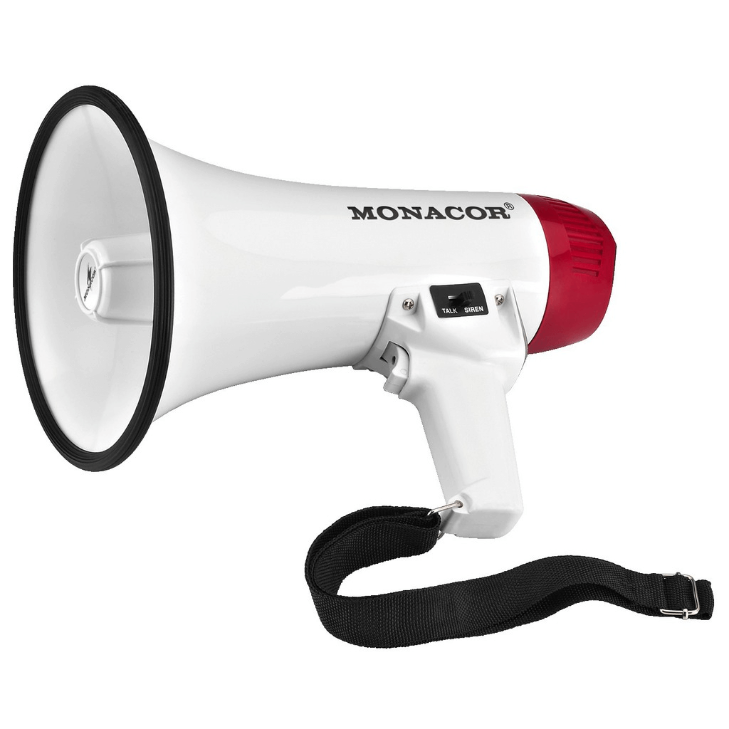 Monacor TM-10 Megaphone 10W inc Siren Event Sound Announcement PA