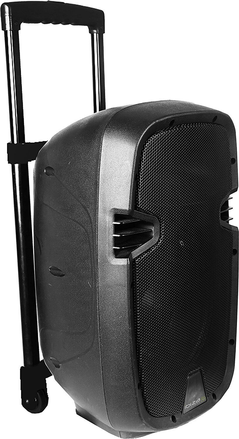 "Ibiza Hybrid 12"" Portable Battery PA Speaker System inc Wireless Handheld Mics"