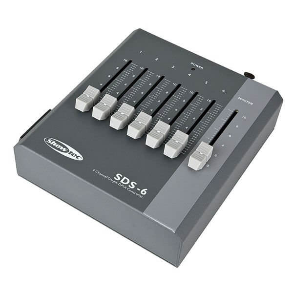 Showtec SDS-6 DMX Controller Fader desk 6 Channel Battery & PSU powered.