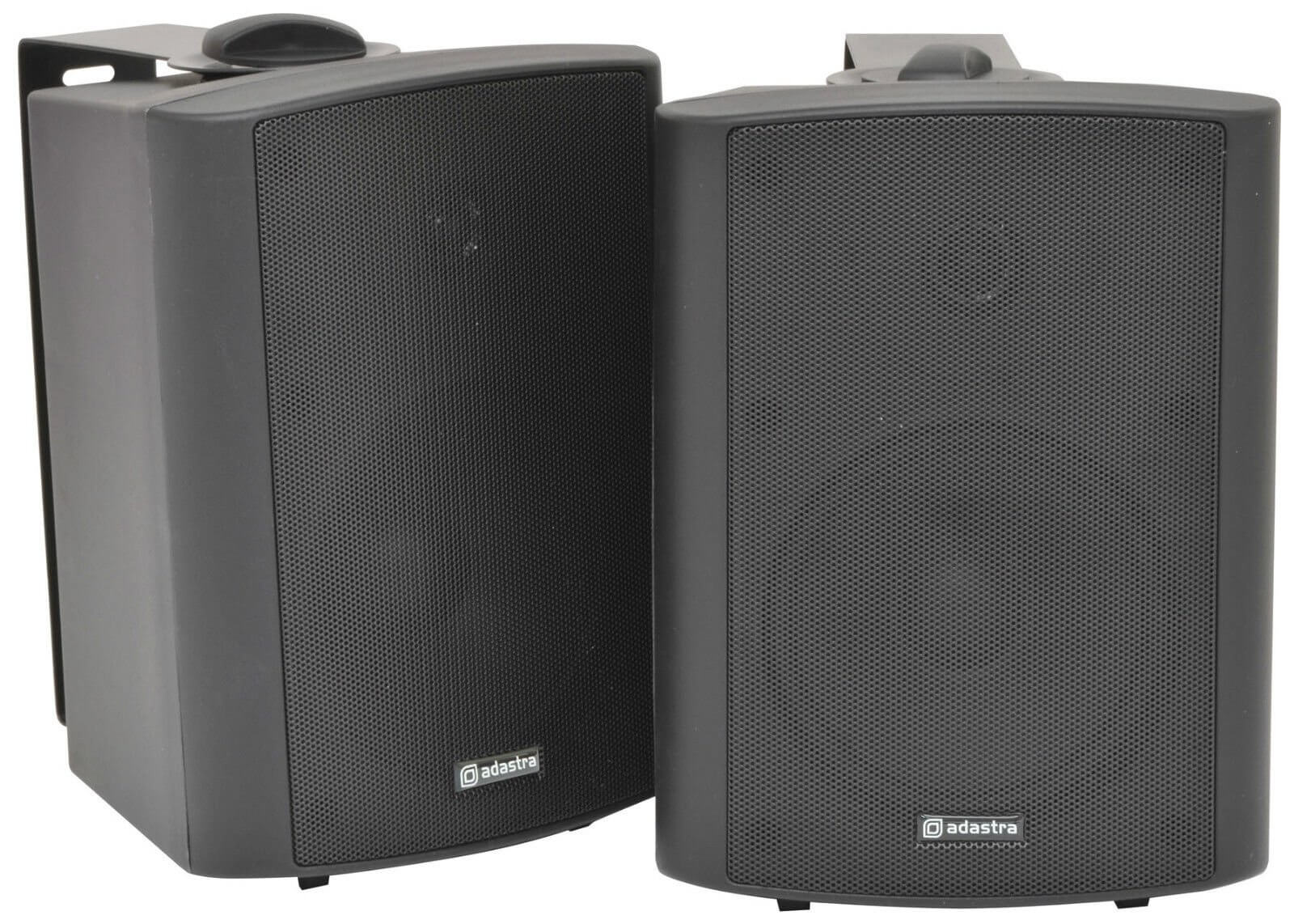 QTX BC5A Black Amplified Stereo Set of Speakers