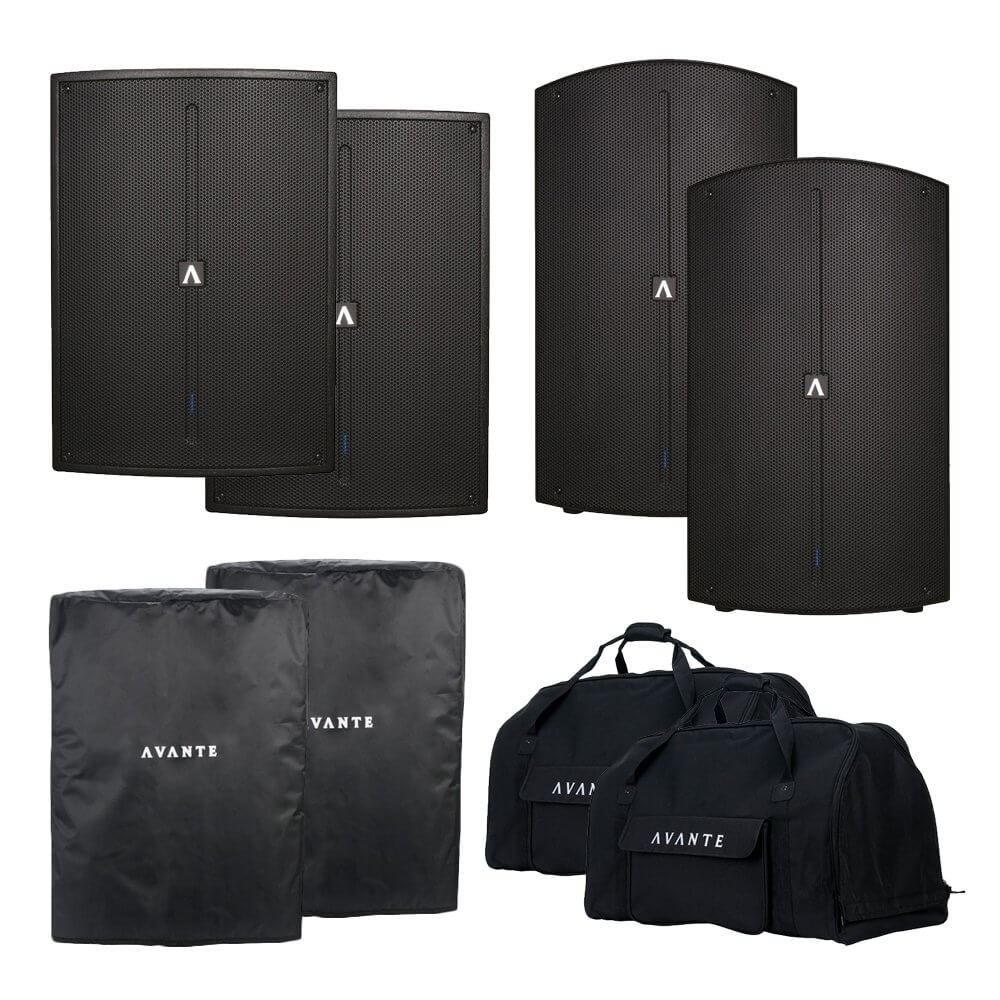 Avante 5600W Active PA Sound System Speaker A15 & A18S DJ Disco