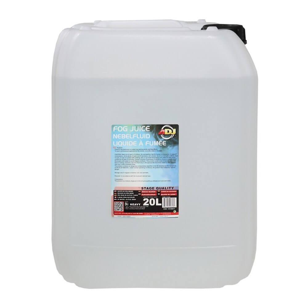 ADJ Fog Juice 3 20L Heavy Dense Smoke Liquid for Fog ...