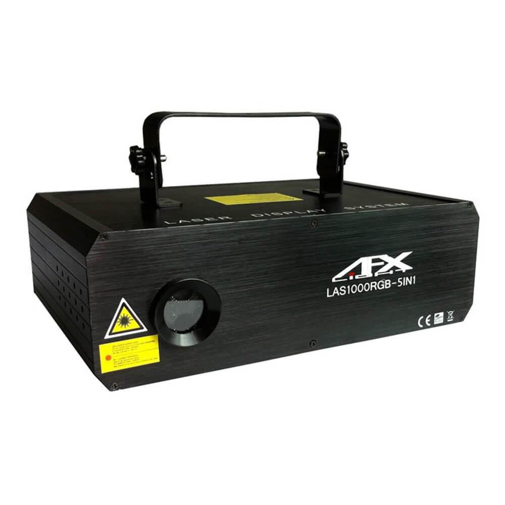 AFX SCAN1000FX5-RGB 1000mw Animation 5 in 1 Effect DMX Laser DJ Disco Lighting